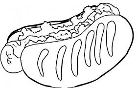 Download Free Hotdog Coloring Pages Of Food Or Print