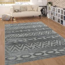 kurzflor wohnzimmer teppich 3 d optik ethno
