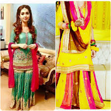 Bridal Mehndi Dresses Designs For Girls 2016 2017