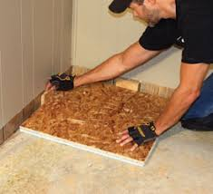 Preparing Osb Subfloor For Tile by Diy Steps For Installing A Insulated Basement Floor Extreme How To