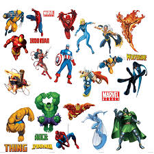 Superhero Wall Decor Stickers by Roommates Rmk1154scs Marvel Heroes Peel U0026 Stick Wall Decals Wall