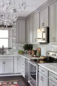 Gray Kitchen Features Raised Panel Cabinets Paired With Viatera Snow Storm