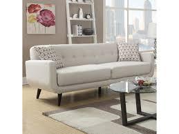 Danish Modern Sofa Sleeper by Elements International Hadley Mid Century Modern Sofa With Tufted