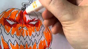 Halloween Pumpkin Coloring Ideas by Wonderful Ideas Coloring With Markers 9 Excellent Halloween