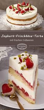 joghurt frischkäse torte mit erdbeeren
