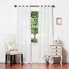 amazon com best home fashion crushed voile sheer curtains