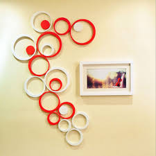 Get Quotations New Arrival Creative Wall Stickers Living Room 3D Circular Shape Paper For Home