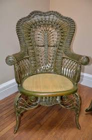 Patio Victorian Shabby Chic Beach Chair Design Ideas Vintage Wicker Chairs Ornate Antique And Rocker 3 Green
