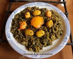 comment cuisiner le cresson recette de pourpier à la marocaine sousoukitchen