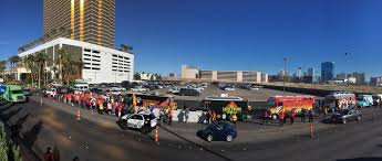 100 Vegas Food Trucks A Wall Of Taco Line Up Against Trump In Las