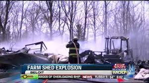 no one hurt in town of beloit machine shed explosion