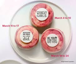Womens History Month Cupcakes
