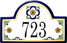 Mexican Tile House Numbers With Frame by Bright Mexican Ceramic Tile House Numbers 52 Mexican Ceramic House