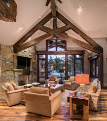 100 Rustic Ceiling Beams Denver Exposed Beam Ceiling Photos Living Room Rustic With
