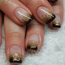 Black and Gold Nail Designs 4