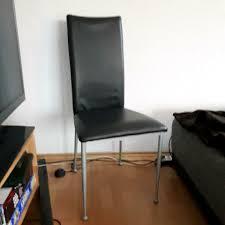 stuhl schwarz silber esszimmerstuhl bürostuhl