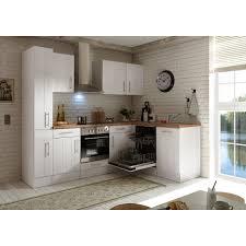 respekta premium winkelküche 250 x 172 cm landhaus lärche weiß nachbildung