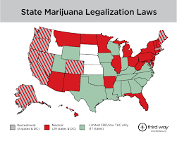 states pot is map of state marijuana legalization laws third way