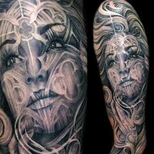 Angel Face Cathedral Morph Tattoo Mancia