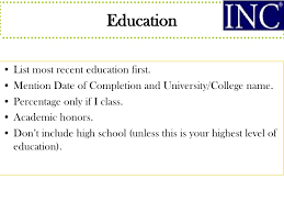 Listing Education On Resume When In Progress Free Samples