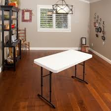 Menards Wood Computer Desk by Lifetime 4 U0027 Adjustable Folding Table White Granite Walmart Com