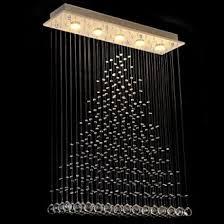 kristallleuchter deckenleuchten moderne rechteckige tröpfchen leuchter beleuchtung unterputz led pendelleuchte für esszimmer wohnzimmer