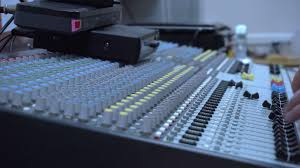 Hands Of Sound Engineer Work With Faders And Knobs On Professional Audio Music Mixer Stock Video Footage