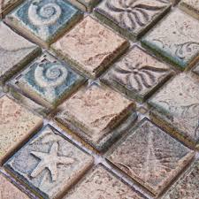 Glazed Porcelain Tile Backsplash Kitchen Bathroom Wall Stickers Ceramic Mosaic Floor YF MCA34