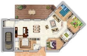 plan maison contemporaine plain pied 3 chambres maison contemporaine avec pièce de vie lumineuse 4 chambres