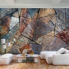 details zu vlies fototapete 3d effekt stein rost tapete wanbilder wohnzimmer 3 farbe