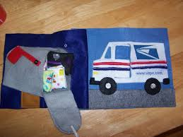 Books N Boys: Mail Truck Quiet Book Page