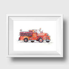 Fire Truck Nursery Art Print | Kids Room Decor – Little Splashes Of ... Fire Engine Themed Bedroom Fire Truck Bedroom Decor Gorgeous Images Purple Accent Wall Design Ideas With Truck Bunk For Boys Large Metal Old Red Fire Truck Rustic Christmas Decor Vintage Free Christopher Radko Festive Fun Santa Claus Elves Ornament Decals Amazon Com Firefighter Room Giant Living Hgtv Sets Under 700 Amazoncom New Trucks Wall Decals Fireman Stickers Table Cabinet Figurine Bronze Germany Shop Online Print Firetruck Birthday Nursery Vinyl Stickerssmuraldecor