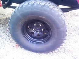 100 4x4 Truck Rims Of 4 33x12 5 15 Mud Tires On Black 10 Steel Rims FWD Truck