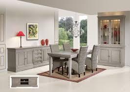 salle à manger complète contemporaine chêne gris