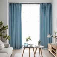 moderner vorhang uni aus baumwolle und leinen für