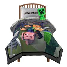 Minecraft Twin Bedding by Fighting Back Twin Full Comforter