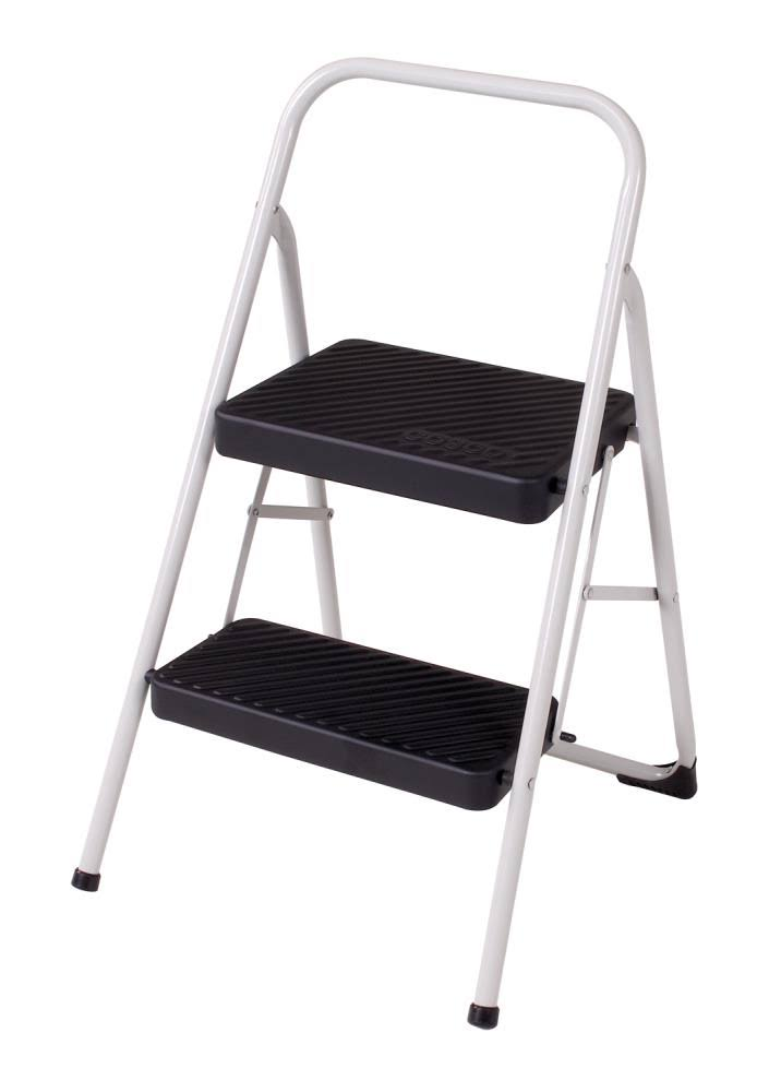 Cosco Cool Gray 2-Step Folding Steel Step Stool