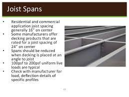 Floor Joist Spans For Decks by Deck Joist Spans All Croix Decks Deck Design Joist Span Deck