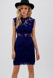 blue lace dress with sleeves naf dresses