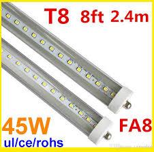 8ft led light fa8 single pin led 2400mm t8 led bulb smd