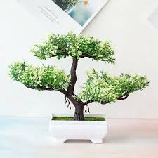 40cm green grün japanische deko künstliche bonsai baum