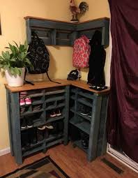 DIY Pallet Shoe Book Bag Rackthese Are The BEST