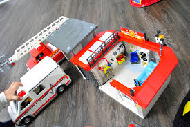 100 Playmobil Fire Truck Lets Play Station With PLAYMOBIL Craft Buds
