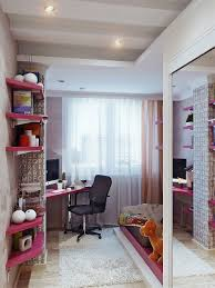 Cute Corner Desk Ideas by Cute High Gloss Pink Kids Corner Desk In The Small Bedroom With