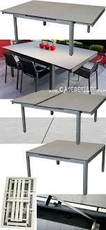 table de jardin metal castorama alu hpl design extensible pliante