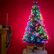 3ft Christmas Tree Asda by Funkybuys 3ft Green Fibre Optic Pop Up Prelit Christmas Tree With