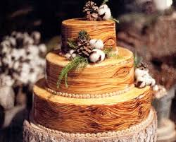 Wedding Cake Of The Day Rustic Wood