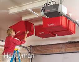 Create a Sliding Storage System the Garage Ceiling