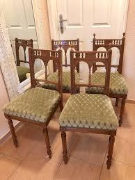 4 alte antike stühle esszimmer stühle jugendstil holz polster
