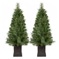 2pk 35ft Prelit Christmas Tree Douglas Fir Clear Lights